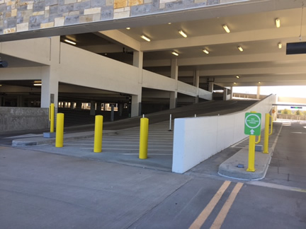 Parking Garage Ramp Power Wash Katy Texas